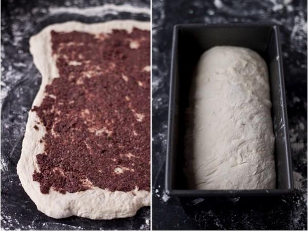 Olive Tapenade Swirl Bread | bloggingoverthyme.com