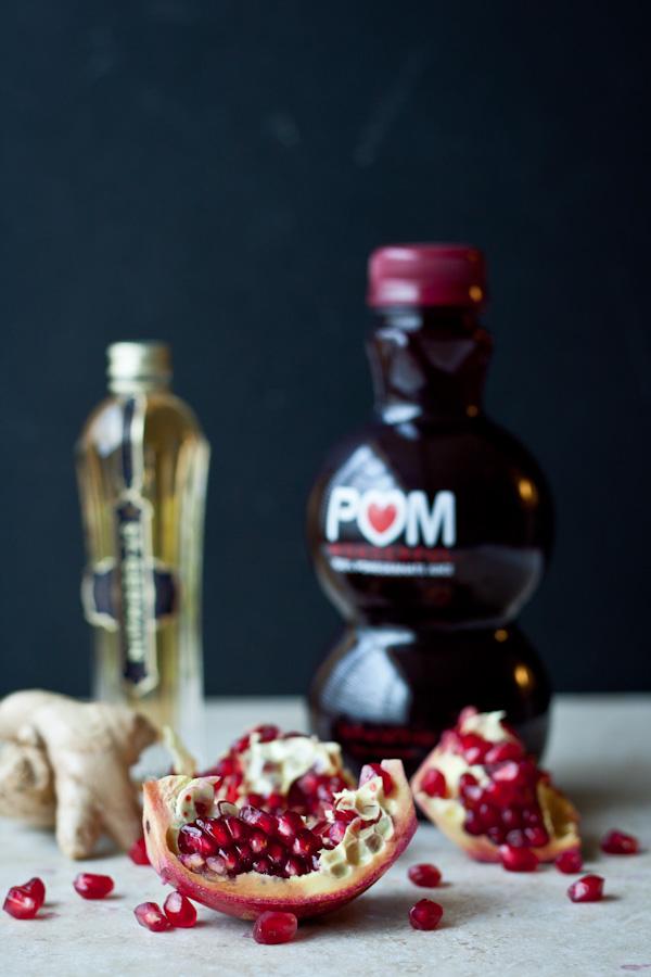 Pomegranate Ginger Sorbet | bloggingoverthyme.com