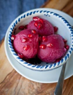 Pomegranate Ginger Sorbet