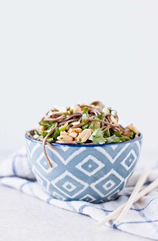 Asian Noodle Salad | bloggingoverthyme.com