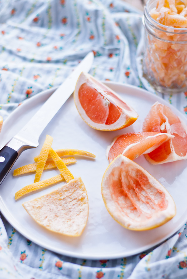 How to Make Candied Grapefruit Zest