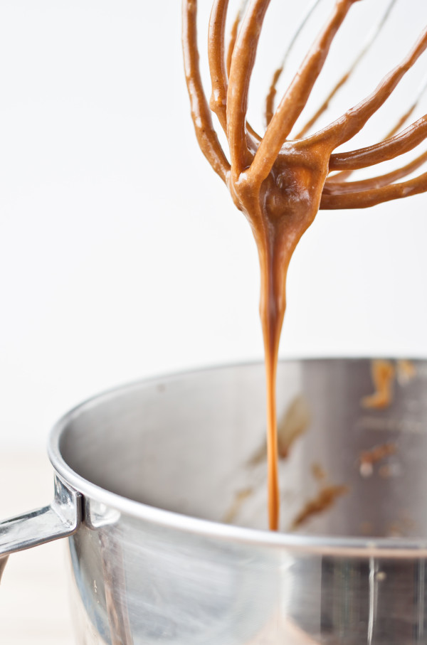 Gingerbread Cupcake Batter on Whisk Attachment