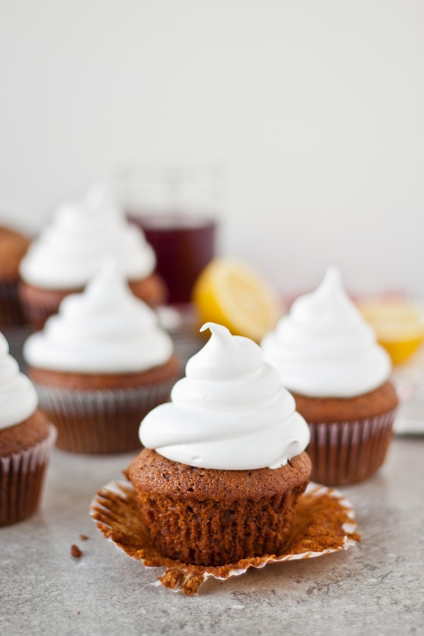 Gingerbread Cupcakes with Marshmallow Frosting