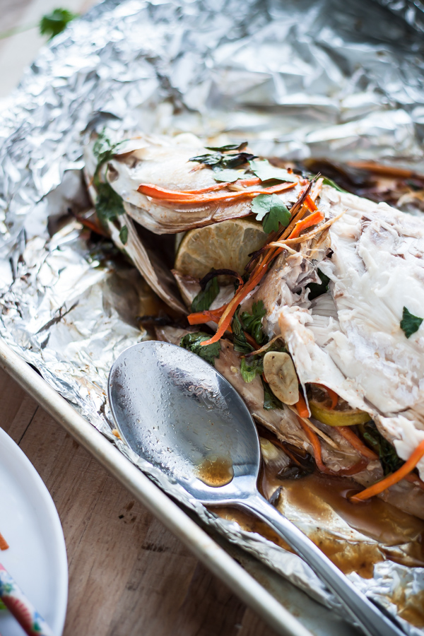 Asian-Style Baked Rockfish | bloggingoverthyme.com