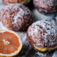 Grapefruit Curd Stuffed Doughnuts