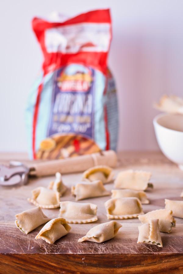 Homemade Agnolotti Pasta | bloggingoverthyme.com