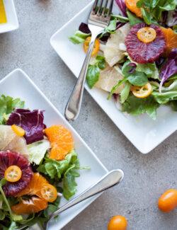 Citrus Salad with Bitter Greens   bloggingoverthyme.com