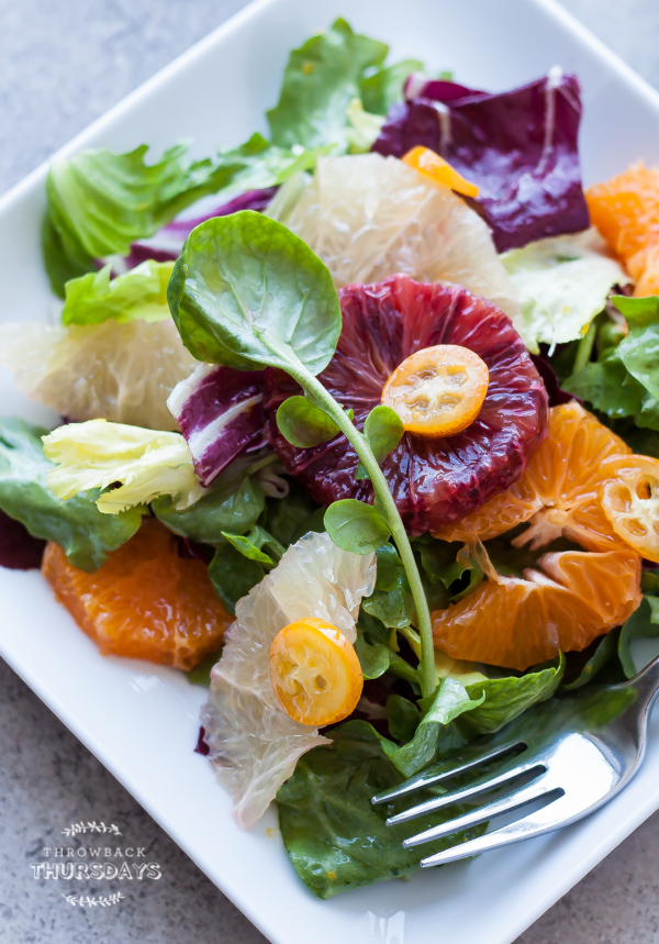 Citrus Salad with Bitter Greens | bloggingoverthyme.com