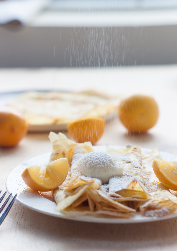 Crepes with Whipped Meyer Lemon Ricotta
