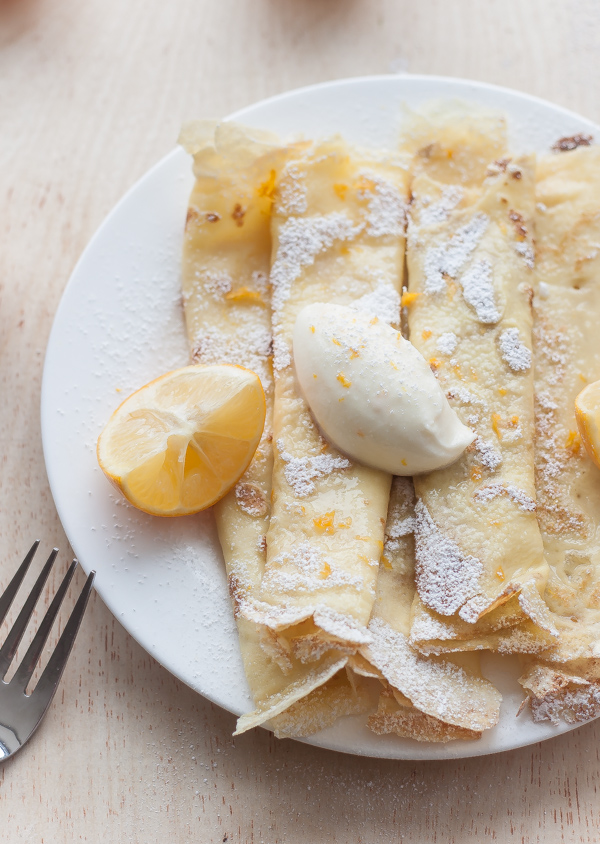 Crepes with Whipped Meyer Lemon Ricotta | bloggingoverthyme.com