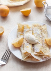 Crepes with Whipped Meyer Lemon Ricotta | bloggingoverthyme.com