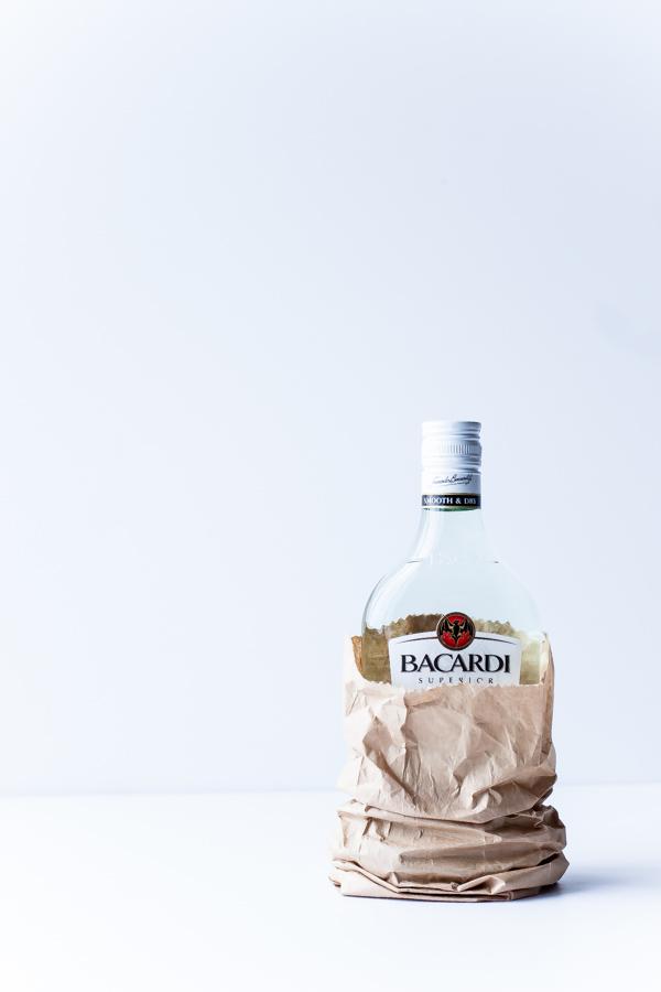 Bacardi Rum in Bag