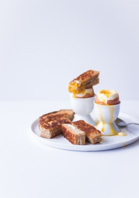 Soft-Boiled Eggs & Grilled Cheese Soldiers  bloggingoverthyme.com