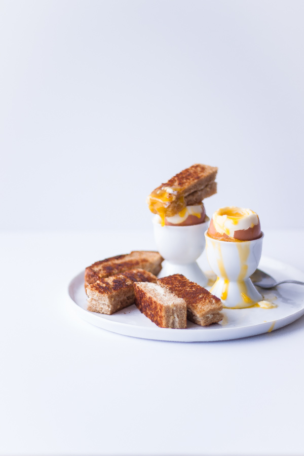 Perfect Soft-Boiled Eggs and Grilled Cheese Soldiers