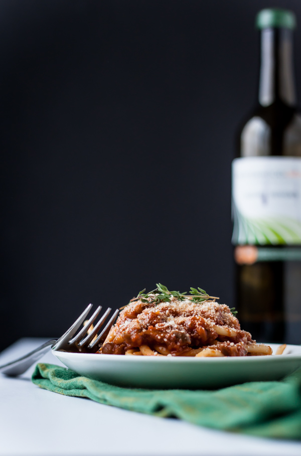 Bucatini with Porcini Mushroom Ragu | bloggingoverthyme.com