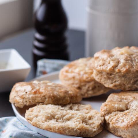 Cheddar Biscuits with Black Pepper Honey Glaze