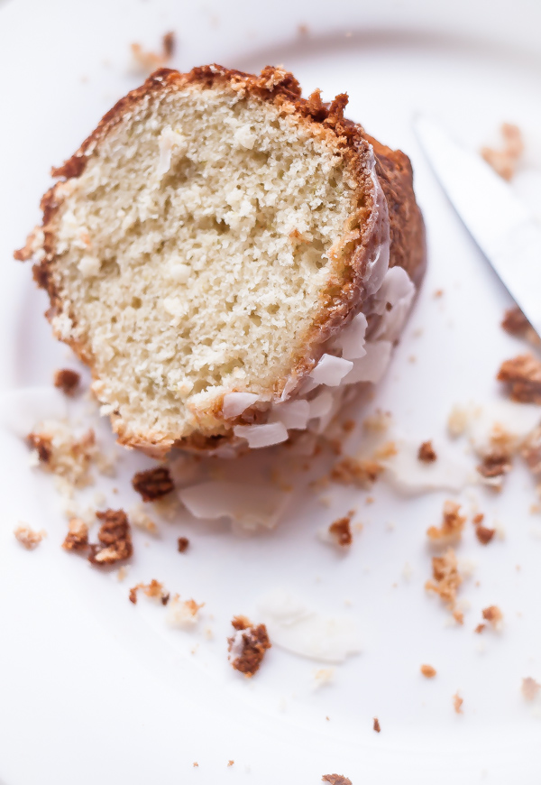 Coconut Cardamom Lime Tea Cake | bloggingoverthyme.com