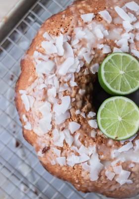 Coconut Cardamom Lime Tea Cake | bloggingoverthyme.com