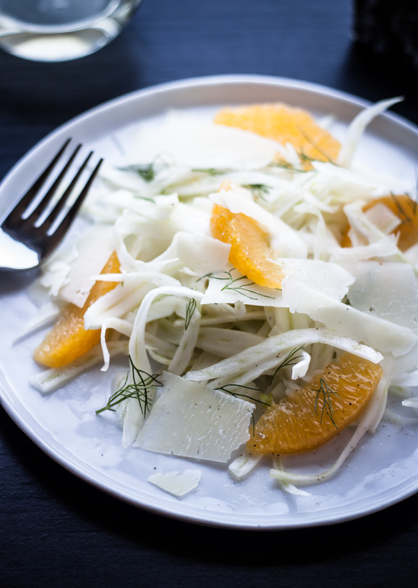 Shaved Fennel, Orange, & Pecorino Salad | bloggingoverthyme. com
