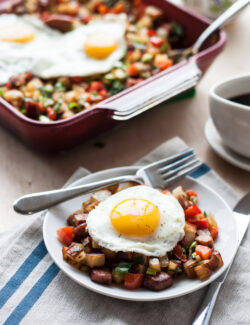 Potato Keilbasa Breakfast Hash