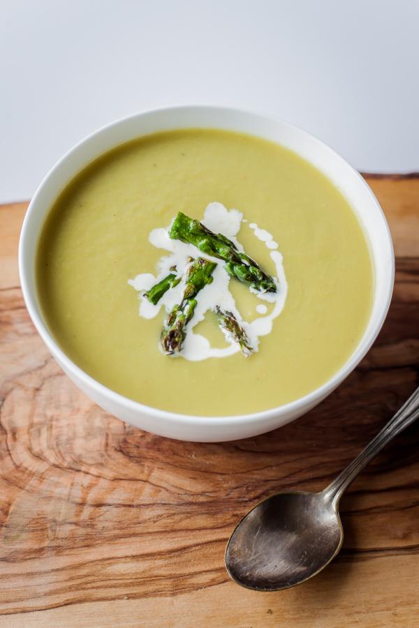 springtime asparagus soup bloggingoverthymecom - Asparagas Soup