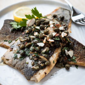 Trout Almondine | bloggingoverthyme.com