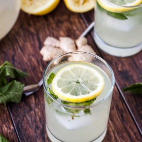Fresh Mint Ginger Lemonade | bloggingoverthyme.com