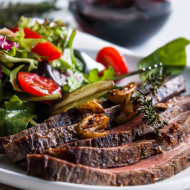 Butter Basted Flank Steak | bloggingoverthyme.com