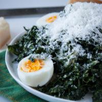 Kale Caesar Salad with Hard-Boiled EggsKale Caesar Salad with Hard-Boiled Eggs