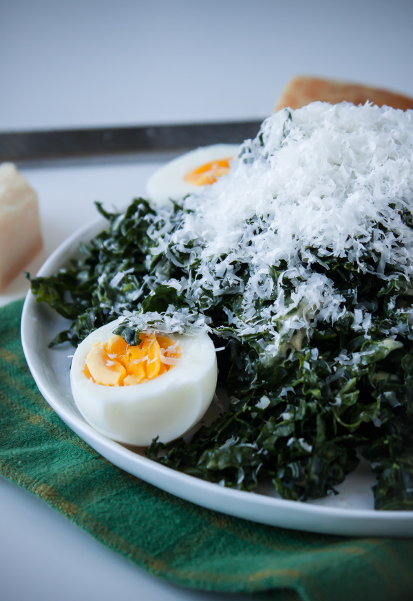 Kale Caesar Salad with Hard-Boiled EggsKale Caesar Salad with Hard-Boiled Eggs