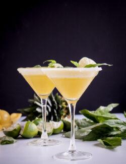 Pineapple Basil Rum Fizz