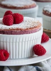 Raspberry Soufflés