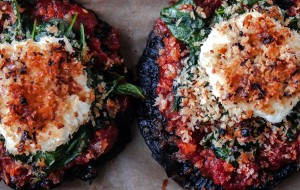 Stuffed Portobello Mushrooms with Crispy Goat Cheese