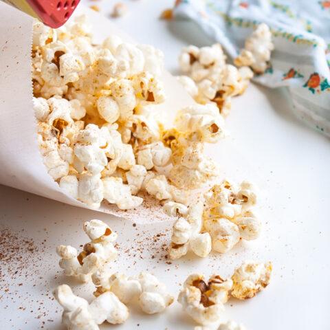 Old Bay Stove-Top Popcorn   @blogoverthyme