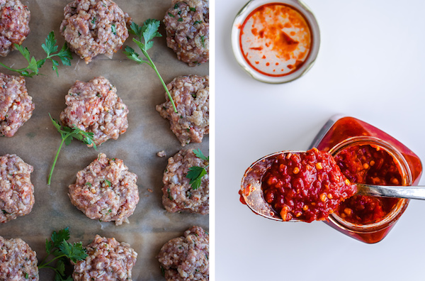 Spicy Harissa Lamb Meatballs with Feta