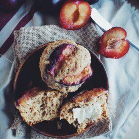 Plum Ginger Muffins