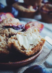 Plum and Ginger Muffins | bloggingoverthyme.com