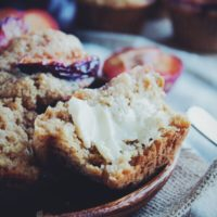 Plum and Ginger Muffins