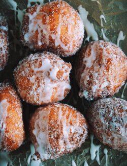 Ricotta Beignets with Lemon-Cardamom Sugar + Lemon Glaze | bloggingoverthyme.com