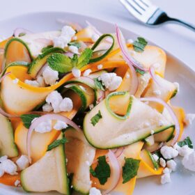 Shaved Summer Squash Salad with Goat Cheese and Fresh Mint - A ...