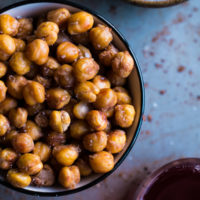 Salt and Vinegar Roasted Chickpeas