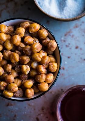 Salt + Vinegar Roasted Chickpeas