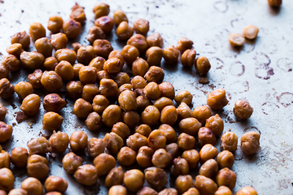 Salt and Vinegar Roasted Chickpeas. A easy, protein and fiber-packed healthy snack that you won't be able put down!