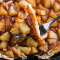 Souffle Pancake with Cinnamon Apples