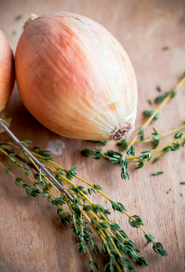 Whole Onion with Fresh Thyme