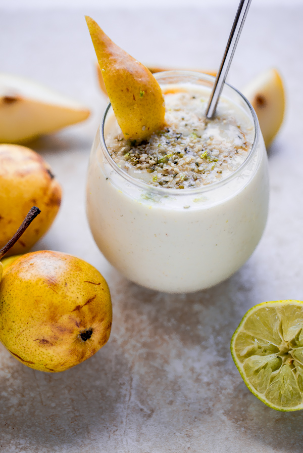 Simple pear smoothie made with just a handful of easy-to-find ingredients!