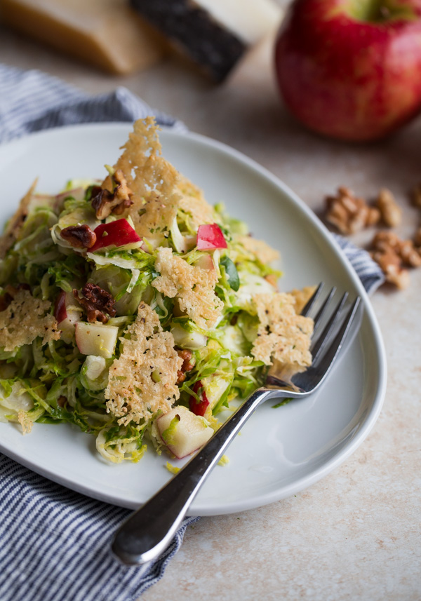 Brussels Sprouts Salad with Apple, Walnuts, and Parmesan ...