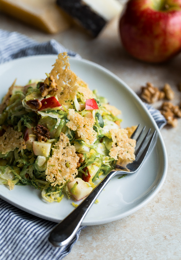 Brussels Sprouts Salad with Apple, Walnuts, and Parmesan-Pecorino ...