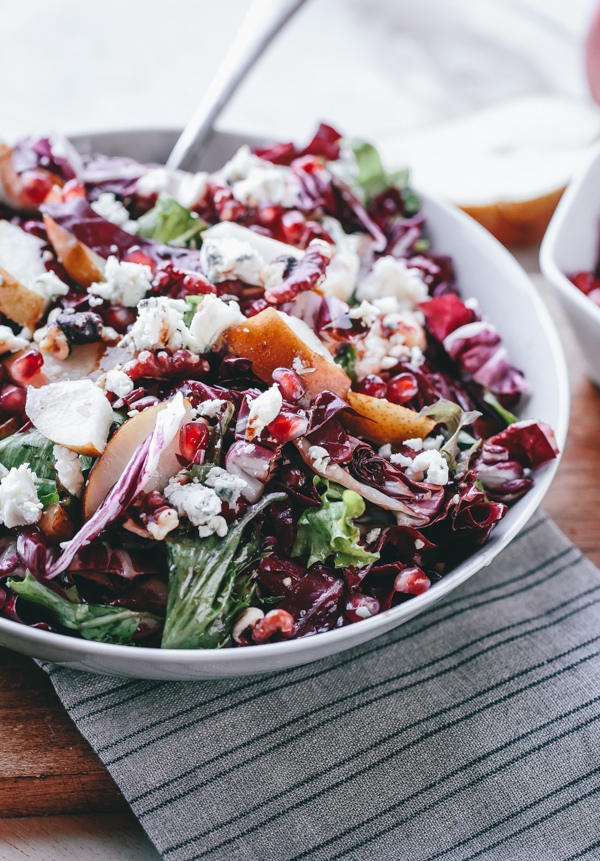 Radicchio, Pear, Gorgonzola, Pomegranate, and Walnut Salad
