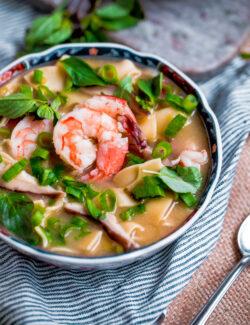 Asian Shrimp Noodle Soup